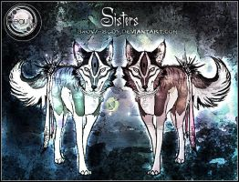 Adoption: Sister Wolf Beauties :CLOSED: by Snow-Body