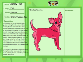 Food pup app- Cherry by HaelOnFire