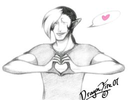 Crowley Hearts You by DracoFeathers