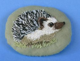 Stumpwork Hedgie by imagination-heart