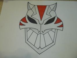 Cheshire Mask from Young Justice wip by SaberFireTiger