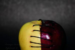 2/4 of the Apple (Black background) by FlyteWizard
