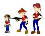 Old and New: Claire Redfield by LegendaryFrog
