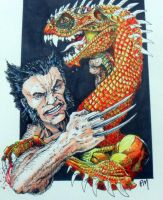 Wolverine .Vs. Dragon by PM-Graphix