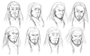 Arek expressions study by iara-art