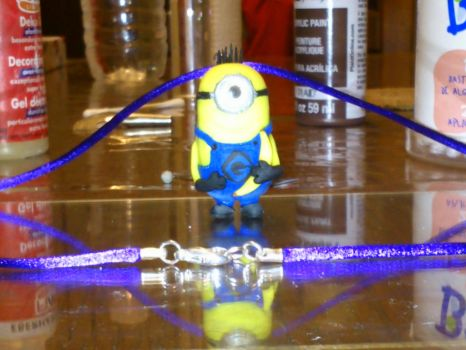 Minion necklace almost finished. by JuliaJulsH