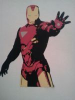 Iron Man Stencil by DMSpray