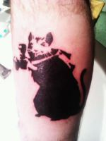 My Banksy Paparazzi Rat :) by Brynios
