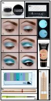 Aquamarine Makeup Tutorial by psychoren