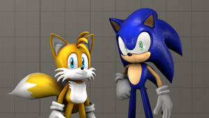 [Sonic The Hedgehog SFM] Sonic and Tails (Test) by sonicboom13561