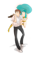 Lum x Ataru by kiwi-person