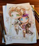 Steampunk Duo Lane - Janna and Caitlyn by Lighane