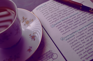 Journal with Tea, please. by Quarion-Design