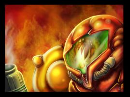 Samus vs. Magmoor v2 by leksbronks