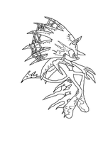 Demon Sonic Lineart by Flip0024
