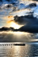 Cowes Jetty by littleredplanet