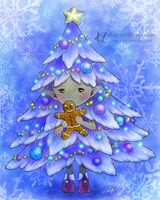 Christmas Tree Sprite by aruarian-dancer