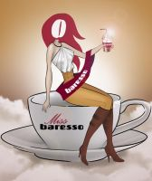 Baresso Coffee - 'miss baresso' by BellaMira