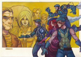 Steampunk X-Men vs Hellfire Club by globalnomadpress