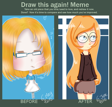 Before and After - Myself by RenakoDream