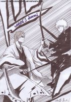 Aizen VS Ichigo by AlexisStyle93