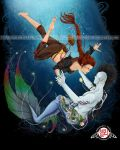 Two Worlds Pirate and Merman Love by AlexandraHaley