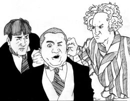 The teen stooges the young and the brainless by for The three stooges coloring pages