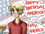 HETALIA: HAPPY 4TH OF JULY. by TheGweny