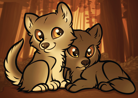 Wolf Puppies by Dragoart