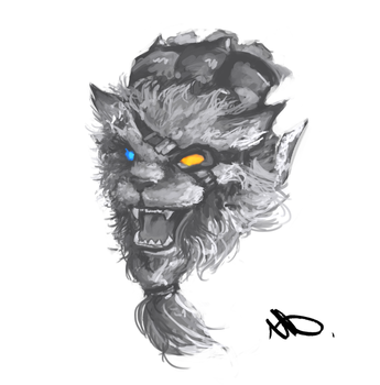 Rengar face - League of Legends by Wroppi