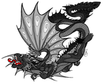 Metal Dragons Born From His Gray Scales by Serenity--Fantasy