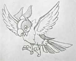 Project Fakemon: Mega Chatot by XXD17