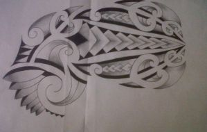 maori half sleeve and chest by tattoosuzette