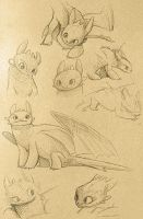 Toothless sketches by Atlantistel