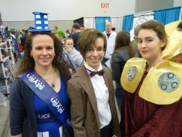 The TARDIS, The Doctor, and a Time Lord by thedarkenedkeeper