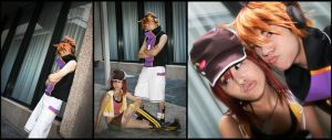 TWEWY: Neku and Shiki cosplay by Kiarou