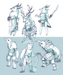 High Fantasy Characters by EstevaoPB