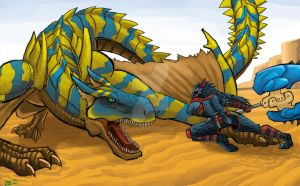 Tigrex battle by AMBONE105