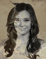 Splash Digital Portrait: Malese Jow by DarkTime005