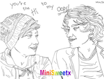 Handmade drawing of Larry Stylinson by MiniSweetx