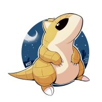 027 - Sandshrew by steven-andrew