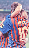 Iniesta N Messi :3 by w6n3oshaq