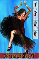 OLE ' Flamenco Poses for V4' by DiYanira