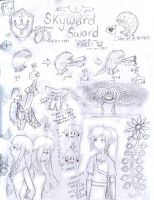 -SPOiLERS -SKYWARD SWORD SKETCH DUMP by Dialirvi