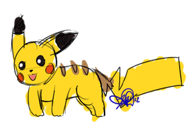 Ohey look it's a pikachu by CONVULS10NS