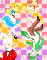 mad hatter's tea party by hikarisoul