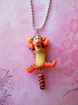 OOAK Tigger necklace commission by rude-and-reckless