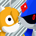 Metal Sonic and Tails Doll by silverxcristal