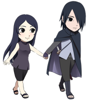 Sasuke and mafumi {Gaiden} by Rarity-Princess