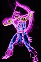 Hawkeye neon by AlanSchell
